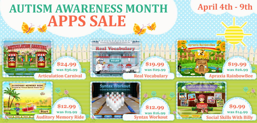 2017 autism awareness month apps sale