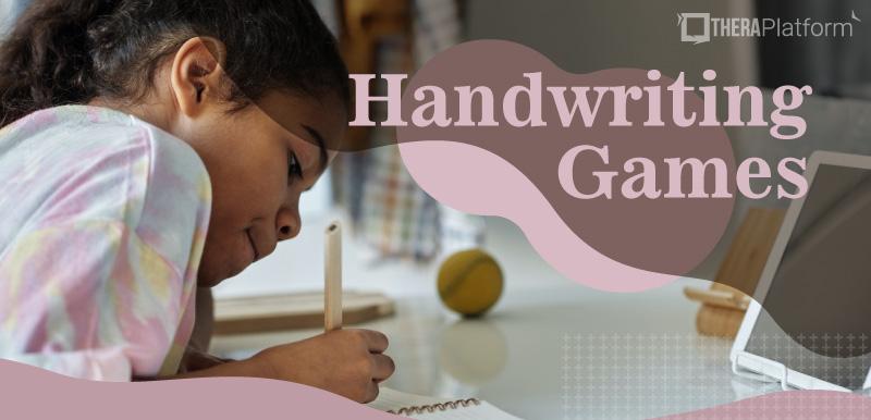 handwriting games, handwriting activities, handwriting games for teletherapy, OT handwriting